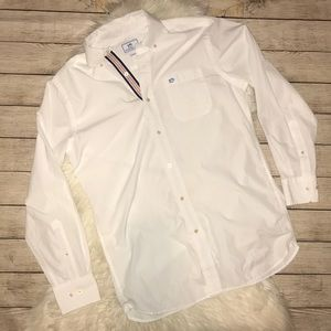 Southern Tide Classic Fit White Button Down Shirt